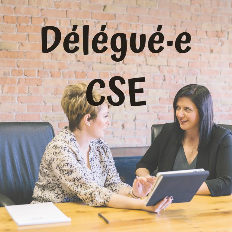 délégué déléguée CE CSE comité d'entreprise